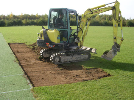 removal of existing turf and soil
